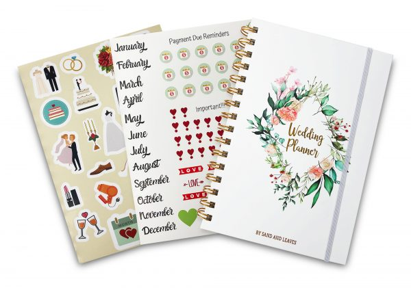 simple wedding planning 2 page stickers
