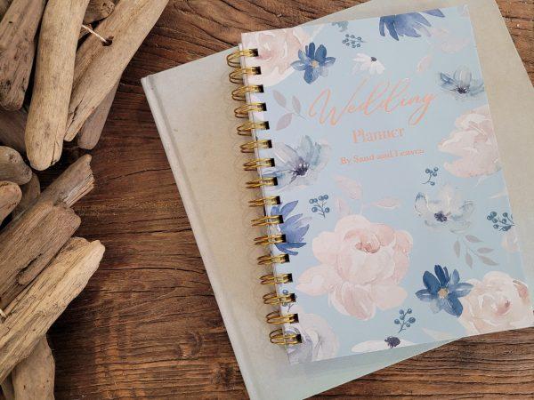 blue wedding planner book