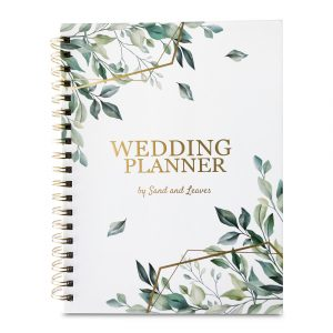 wedding planner book front view