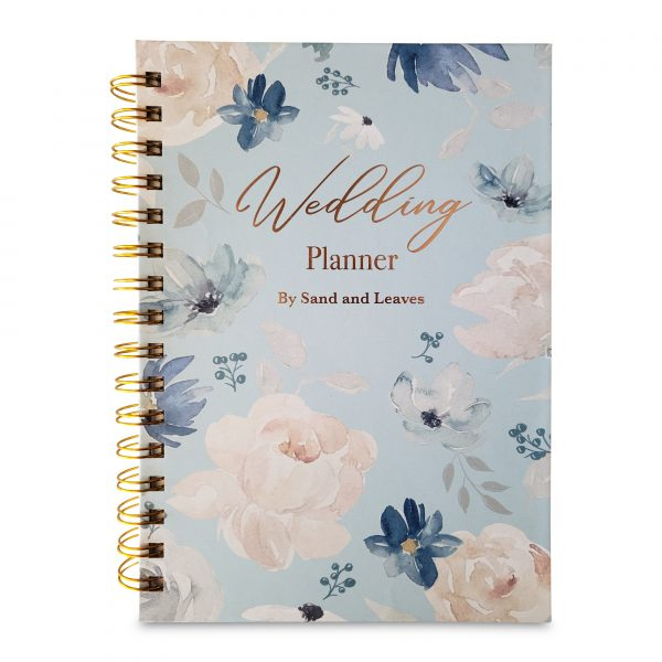 blue wedding planner book front view